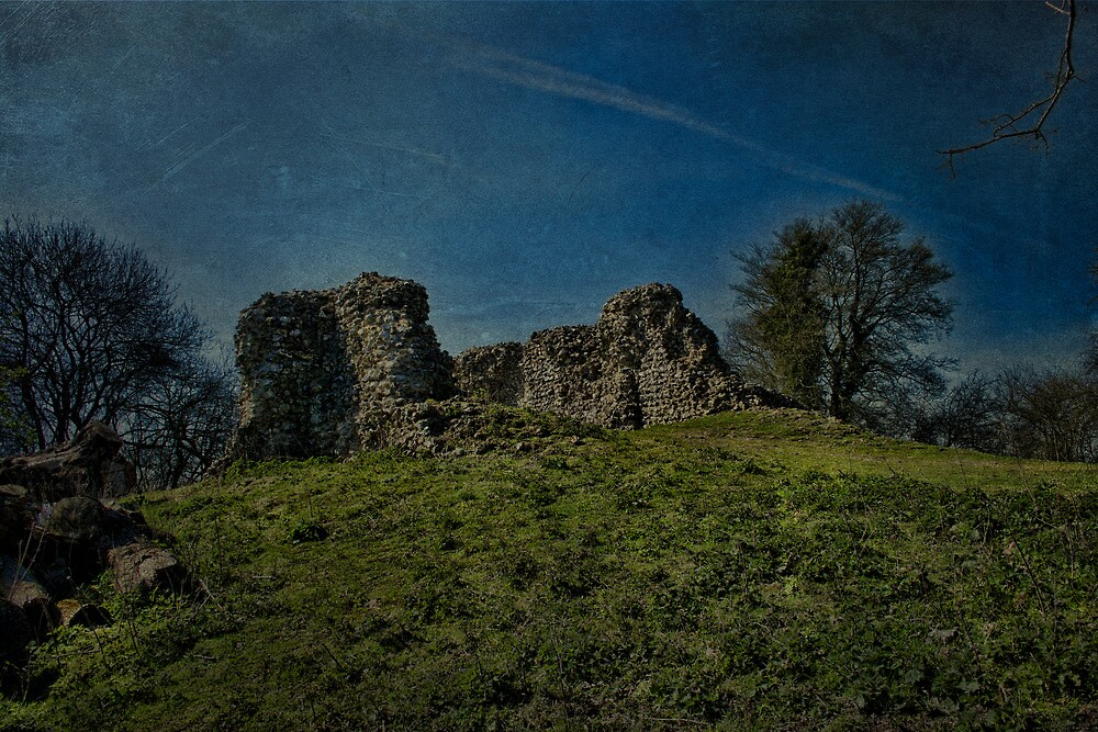 Thurnham Castle Gatehouse Ruins by Dave Godden