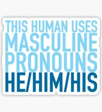 He/Him/His Pronouns Sticker