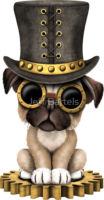 Quot Cute Steampunk Pug Puppy Dog Quot Stickers By Jeff Bartels