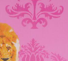 Wallpaper Lion Pink Sticker