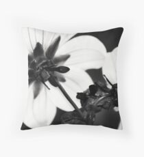 Black and White Dahlias Throw Pillow