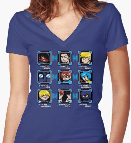 MEGA PILGRIM Women's Fitted V-Neck T-Shirt