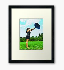 WOMAN WITH PARASOL Framed Print
