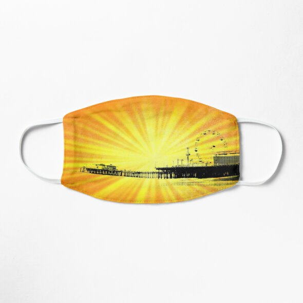 Santa Monica Pier Yellow Sunburst Mask Designed by stine1