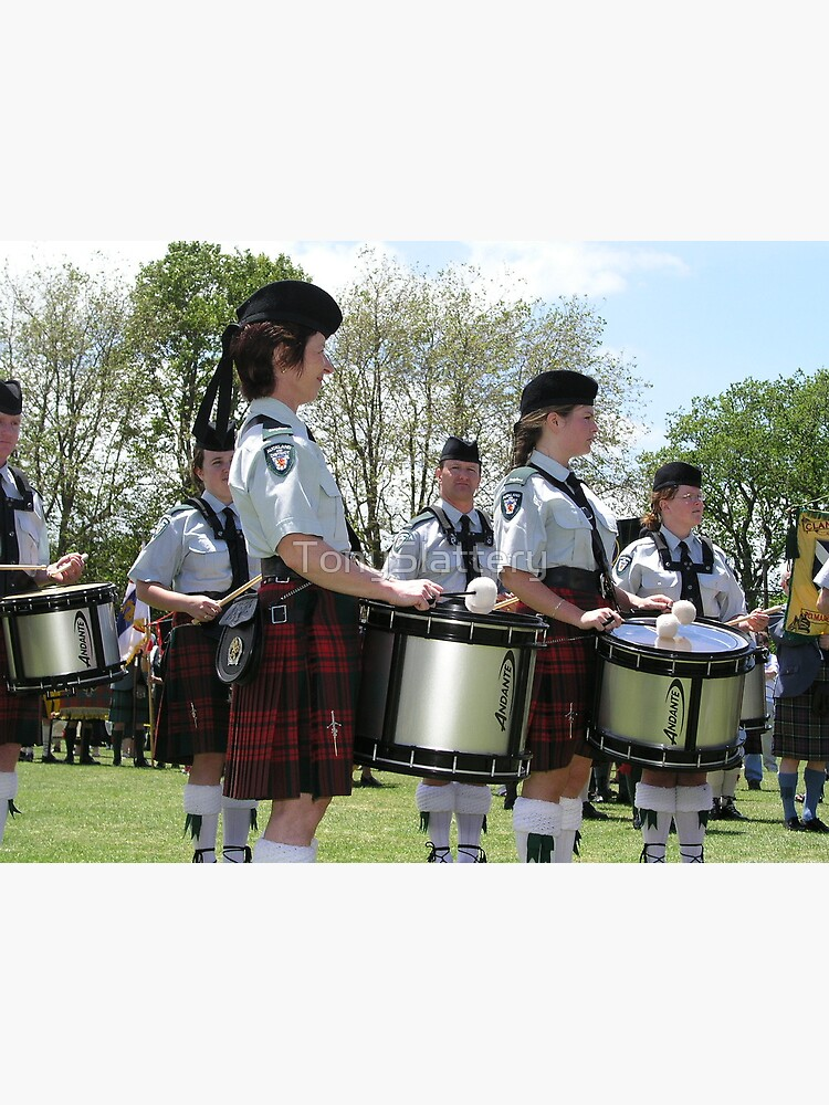 Pipe Band Drummers by TonySlattery