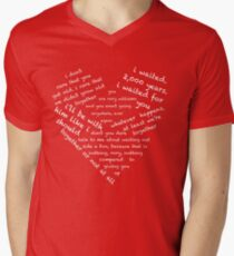 Quotes of the Heart - Amy/Rory (White) Men's V-Neck T-Shirt