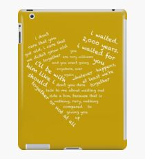 Quotes of the Heart - Amy/Rory (White) iPad Case/Skin