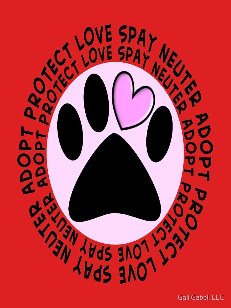 Animal Spay Neuter Adopt T-Shirt by gailg1957