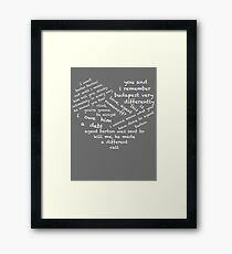 Quotes of the Heart - Clintasha (White) Framed Print