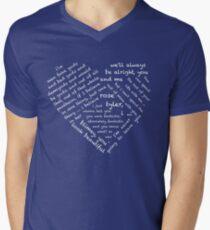 Quotes of the Heart - Doctor/Rose (White) Men's V-Neck T-Shirt