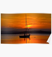Nautical Sunset. Poster