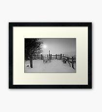 Misty Winter Walk BW Framed Print