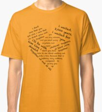 Quotes of the Heart - Amy/Rory (Black) Classic T-Shirt