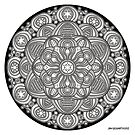 Mandala drawing 42 Prints, Cards & Posters by mandala-jim