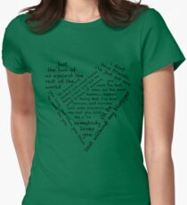 Quotes of the Heart - Johnlock (Black) T-Shirt