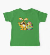 Easter Bunny Proud of his Big Decorated Egg Baby Tee