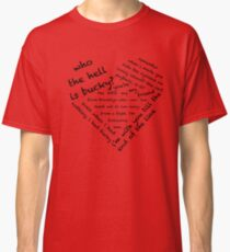 Quotes of the Heart - Stucky (Black) Classic T-Shirt