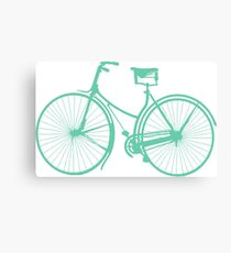 Teal bike Canvas Print