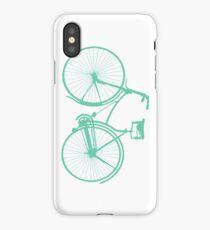Teal bike iPhone Case/Skin