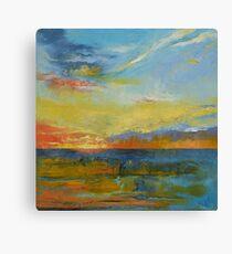 Turquoise Blue Sunset Canvas Print