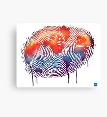 WORLD MAP water colour illustration  Canvas Print