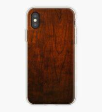 Mahogany Wood Texture  iPhone Case