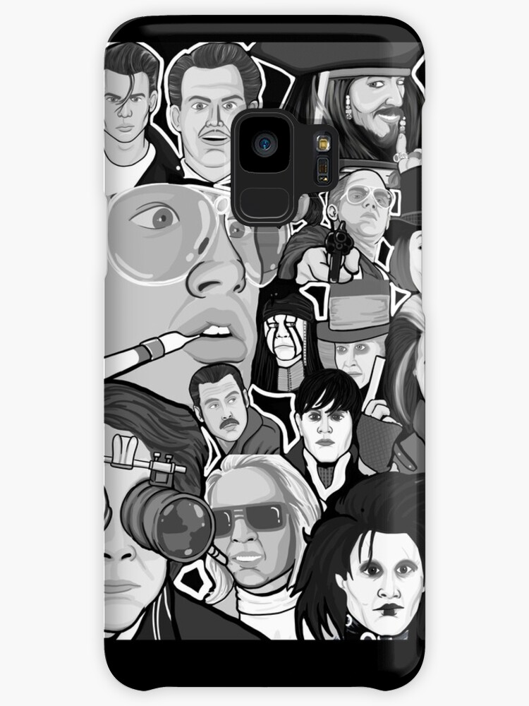 Johnny Depp Character Collage Cases Skins For Samsung Galaxy By