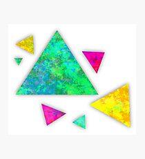 Retro-80s Confetti Triangles Photographic Print