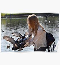 Bird Girl At Exeter Quays, Exeter , Devon Poster
