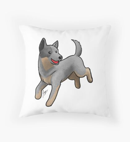 Australian Cattle Dog/ Blue Heeler Throw Pillow