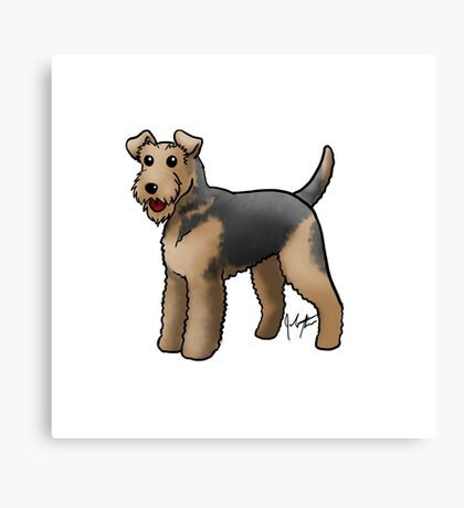 Airedale  Canvas Print