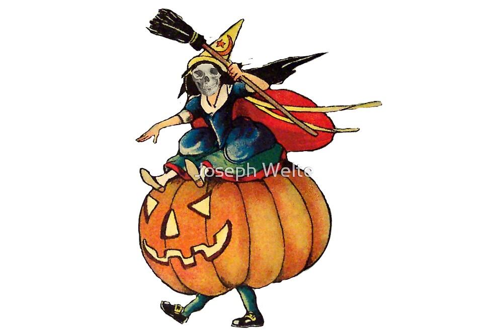 Queen Reaper (Vintage Halloween Card) by Joseph Welte