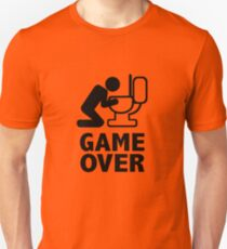 Game over puke toilet Unisex T-Shirt