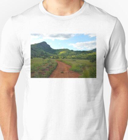 red dirt, green grass.  mlilwane wildlife sanctuary T-Shirt