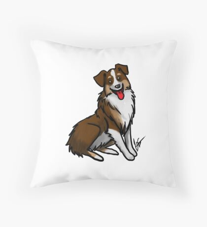 Australian Shepherd - Tri Color Throw Pillow
