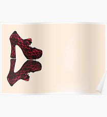 Red Lace Poster