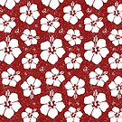 Hibiscus Flower (Burgundy Color) by Saranet