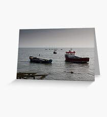 Fishing boats Leigh on sea Essex Greeting Card