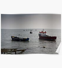 Fishing boats Leigh on sea Essex Poster