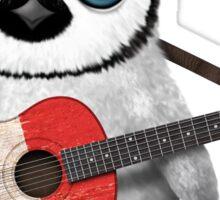 Baby Penguin Playing Italian Flag Guitar Sticker