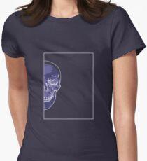 Skull Blue Mauve B Women's Fitted T-Shirt