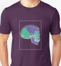 Skull Green Mauve C Unisex T-Shirt