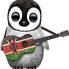 Baby Penguin Playing Kenyan Flag Guitar von jeff bartels