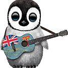Baby Penguin Playing Fiji Flag Guitar von jeff bartels