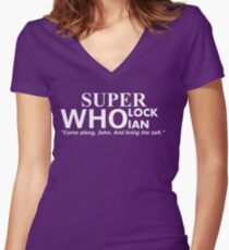 Superwholockian + quip Women's Fitted V-Neck T-Shirt