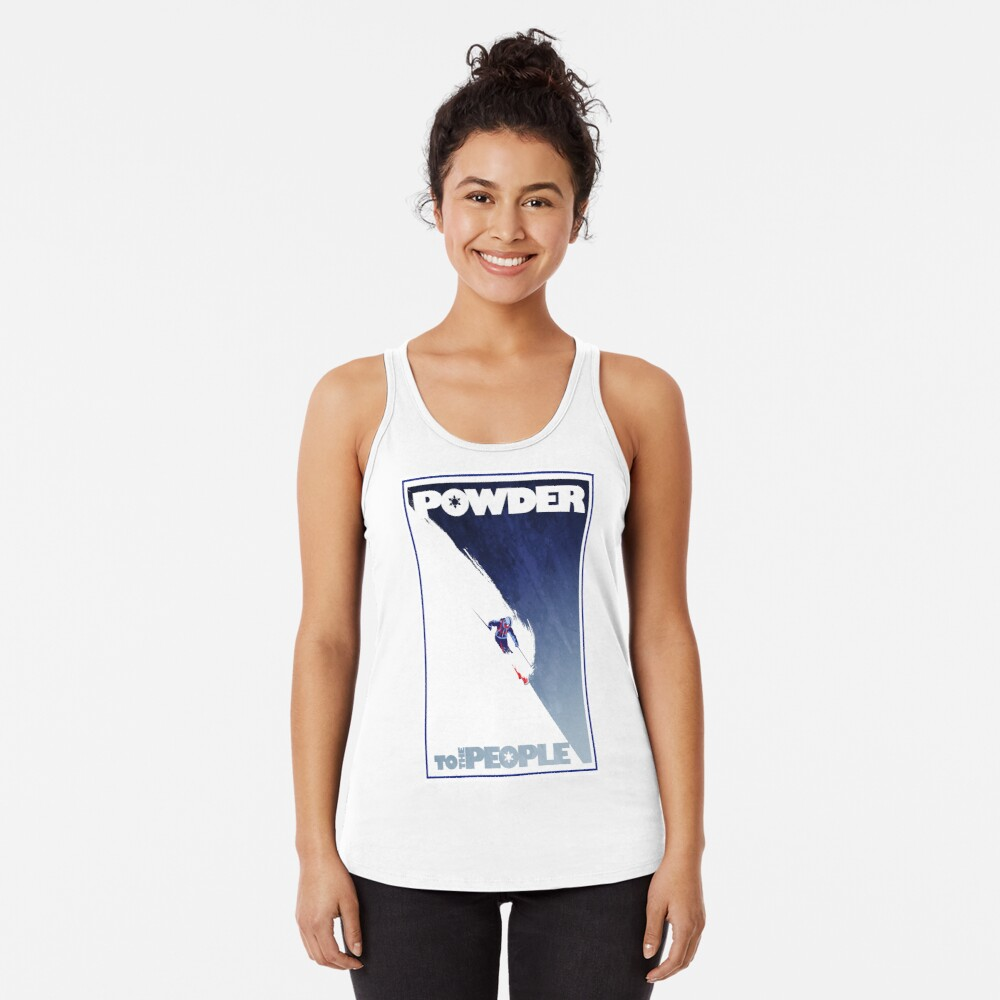 Powder to the People Racerback Tank Top