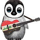 Baby Penguin Playing Iraqi Flag Guitar von jeff bartels