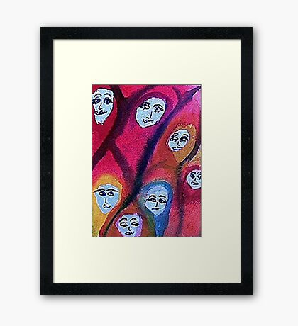 Women of the world,be proud! watercolor Framed Print