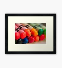 Crayons 2 Framed Print