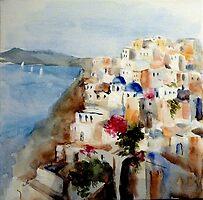 Memories of Santorini by Ivana Pinaffo